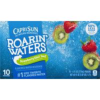 Capri Sun Flavored Water Beverage, Strawberry Kiwi Surf, 10 Pack, 10 Each