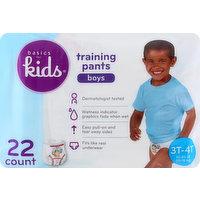Basics For Kids Training Pants, 3T-4T (32-40 lb), Boys, 22 Each