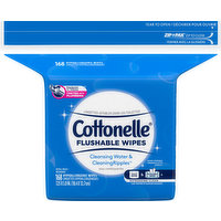 Cottonelle Wipes, Hypoallergenic, Flushable, 168 Each