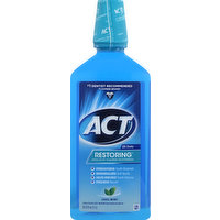 ACT Mouthwash, Flouride, Anticavity, Cool Mint, 33.8 Ounce