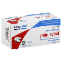Equaline Pain Relief, Extra Strength, 500 mg, Caplets, 250 Each