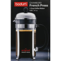 Bodum Coffee Maker, French Press, 8 Cup, 1 Each
