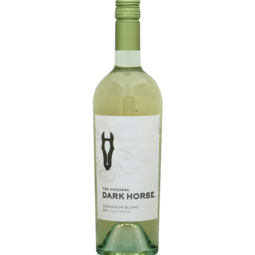 The original. Dark Horse winemaker, Beth Liston, believes that fortune favors the bold. Her pioneering approach to viticulture and winemaking champions quality originality and above all, taste. A bold wine with big personality, this Sauvignon Blanc has exceptional flavors of lively pink grapefruit, backed by notes of fresh tropical fruit and bright citrus with a crisp, vibrant finish. Pour a glass and let us know what you think. darkhorsewine.com. Twitter. Instagram. Alc. 13% by vol. Vinted & bottled by Dark Horse Wines, Modesto, CA 95354.