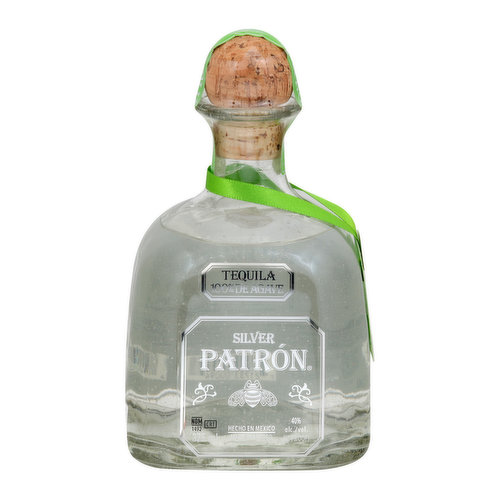 Patron Silver tequila is crafted from the highest quality 100% Weber Blue Agave, which is carefully harvested, closely trimmed, and slowly steam-baked in small brick ovens. The cooked agave is then crushed, fermented, and twisted-distilled in small batches, using the time-honored tahona process and the more modern roller mill method, to create Patron's signature smooth taste. Patron Silver's crisp clean taste, with notes of citrus and cooked agave, can be enjoyed straight, on the rocks, or mixed to enhance any cocktail. Each pour of Patron Silver is simply perfect. Our Commitment to Jalisco: All Patron tequilas are distilled and bottled at Hacienda Patron in the Highlands of Jalisco, Mexico, where great care is taken to protect the land that yields the world's finest agave. Among our sustainability efforts, we developed an innovative reverse osmosis system that reclaims water allowing for irrigation in our gardens and cleaning our facilities. Additionally, agave fiber from our production is transformed into compost, which is used to fertilize agave fields and other local land areas. patrontequila.com. 40% alc./vol. 80 Made in Mexico. Handcrafted and imported exclusively from Mexico.