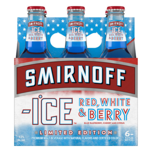 Limited Edition. Premium malt beverage with natural flavors and certified colors. Drink responsibly. www.DRINKiQ.com. www.smirnoffice.com. Please recycle. 4.5% alc./vol.