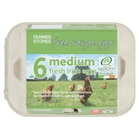 Dunnes Stores 6 Medium Fresh Irish Free Range Eggs