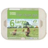 Dunnes Stores 6 Large Fresh Irish Free Range Eggs