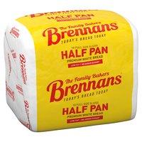 Brennans Half Pan Premium White Bread 10 Full Size Slices 400g