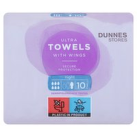 Dunnes Stores 10 NightUltra Towels with Wings
