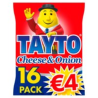 Tayto Cheese & Onion Flavour Potato Crisp 16 x 25g