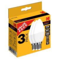 Kodak Cndl 6W SES 3Pk LED