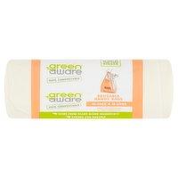 GreenAware 100% Compostable Reusable Handy Bags 10 x 30L