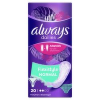 Always Dailies Flexistyle Panty Liners Normal x20