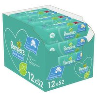 Pampers Fresh Clean Baby Wipes 12 Packs = 624 Baby Wet Wipes