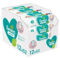 Pampers Sensitive Baby Wipes 12 Packs = 624 Baby Wet Wipes