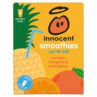 innocent Smoothies Just for Kids Oranges, Mangoes & Pineapples Juice 4 x 150ml