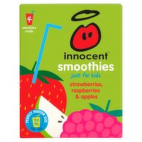 Innocent Strawberries, Rasp & Apples Juice 4 x 150ml