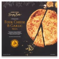 Dunnes Stores Simply Better Italian Four Cheese & Garlic Pizza 395g