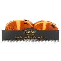 Dunnes Stores Simply Better Irish Made All Butter Hot Cross Buns 360g