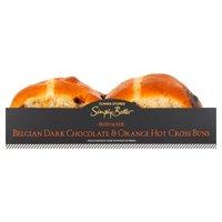 Dunnes Stores Simply Better Irish Made Belgian Dark Chocolate & Orange Hot Cross Buns 360g