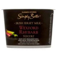 Dunnes Stores Simply Better Irish Jersey Milk Wexford Rhubarb Yogurt 150g
