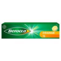 Berocca Orange Flavour 15 Effervescent Tablets