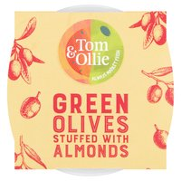Tom & Ollie Green Olives with Almonds 150g
