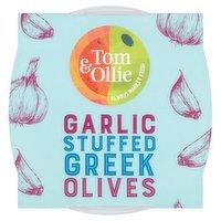 Tom & Ollie Garlic Stuffed Green Olives 150g