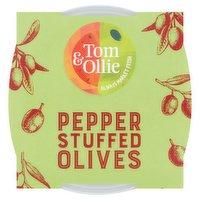 Tom & Ollie Pepper Stuffed Olives 150g