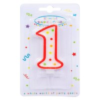 """""""Dots"""" Numeral Candle No. 1"""