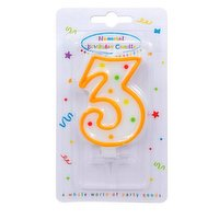 """""""Dots"""" Numeral Candle No. 3"""
