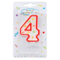 """""""Dots"""" Numeral Candle No. 4"""