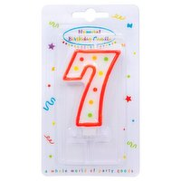 """""""Dots"""" Numeral Candle No. 7"""