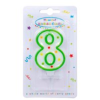 """""""Dots"""" Numeral Candle No. 8"""
