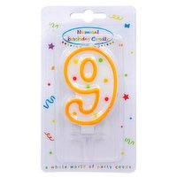 """""""Dots"""" Numeral Candle No. 9"""