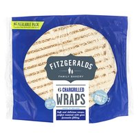 Fitzgeralds Family Bakery 6 Chargrilled Wraps 370g