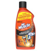 Mr Muscle Power Gel Kitchen Drain Cleaner & Bathroom Plughole Unblocker