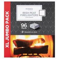 Dunnes Stores Irish Peat Firelighters XL Jumbo Pack 96 Pieces