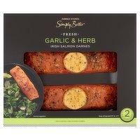 Dunnes Stores Simply Better Fresh Garlic & Herb 2 Irish Salmon Darnes 240g