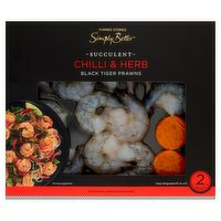 Dunnes Stores Simply Better Succulent Chilli & Herb Black Tiger Prawns 200g