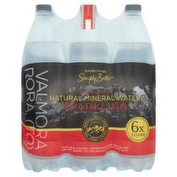Dunnes Stores Simply Better Italian Alpine Natural Mineral Water Sparkling 6 × 1 Litre