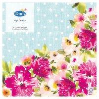 Duni 20 Happy Florals Tissue Napkins 33 x 33cm