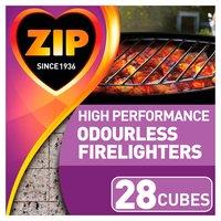 Zip High Performance Odourless Firelighters 28 Cubes