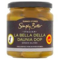 Dunnes Stores Simply Better Italian La Bella Della Daunia DOP Green Olives 290g