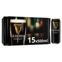 Guinness Draught Stout Beer 15 x 500ml Can