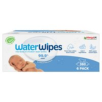 WaterWipes Baby Wipes Sensitive Biodegradable 360 Wipes (6 Packs of 60)