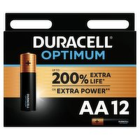 Duracell Optimum AA Batteries Pack of 12