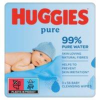Huggies® Pure Baby Wipes - 3 Pack (56 Wipes/Pack, 168 Wipes Total)