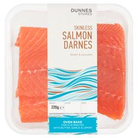 Dunnes Stores Skinless Salmon Darnes 220g