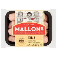 Mallon's 8 Pure Irish Pork Sausages 227g